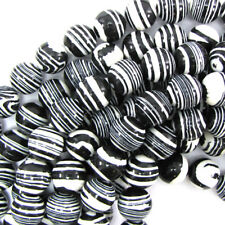 """Sythetic Black Rainbow Calsilica Round Beads 15.5"""" Strand 4mm 6mm 8mm 10mm 12mm"""