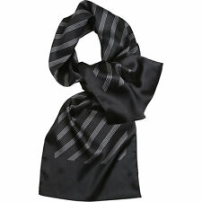 Premier Womens/Ladies Four Stripe Satin Feel Corporate Business Scarf