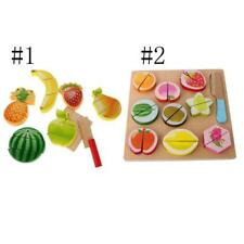 8/11Pcs Kitchen Children Toy Kids Play Pretend Food Wooden Fruit Cutting Set