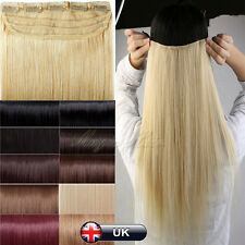 Hot One Piece Clip in Remy Real Human Hair Extensions 16inch-22inch UK SALE N554