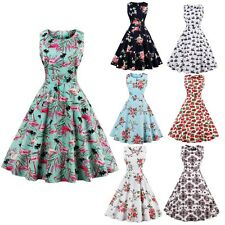 1950s Vintage Pin Up Swing Rockabilly Dress Hepburn Style Evening Party Dress