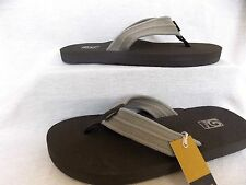 TEVA Mens MUSH II CANVAS Flip Flop Sandals~DUNE Beige Super Comfy~1004890 NEW