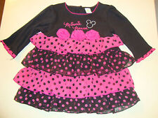 DISNEY MINNIE MOUSE  DRESS ADORABLE NWTS  polka dots!!!