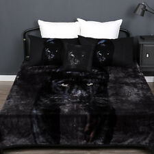 Black Panther Thick Warm Mink Blanket   600gsm   Double sided   Super Soft Touch