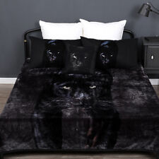 Black Panther Thick Warm Mink Blanket | 600gsm | Double sided | Super Soft Touch