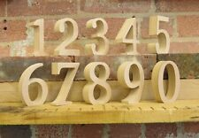 "Free standing wooden table numbers for weddings, events, parties 10cm (4"") tall"