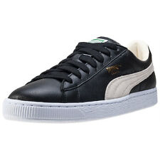 Puma Basket Classic Mens Trainers Black White New Shoes