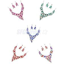 Party Wedding Bridal Rhinestone Crystal Statement Choker Necklace Earrings Set
