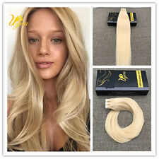 7A Brazilian Bleach Blonde #613 Seamless Remy Tape In Real Human Hair Extensions