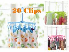 High Quality 20 Clips Pin Hanging Dryer Laundry Clothes Hanger Octopus HT