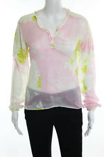 Just Cavalli Multi Color Print Sheer Lightweight Blouse Top Size Extra Small