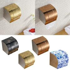 Stainless Steel Barthroom Toilet Roll Paper Tissue Holder Box Case with Cover