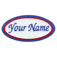 OVAL CUSTOM EMBROIDERED NAME / TEXT TAG PATCH (B)