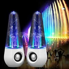 Dancing Water Show Music Fountain LED Light Speakers for Computer Laptop pc