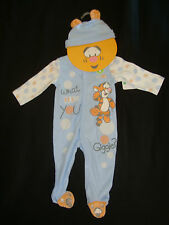 """DISNEY  POOH """"BABY TIGGER"""" 2PC set NWT ROMPER &  HAT """"WHAT MAKES YOU GIGGLE??"""""""