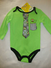 "SESAME STREET OSCAR long sleeve BODY SUIT  NWTS ""BEST DRESSED GROUCH AROUND"""