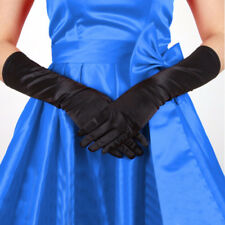 Womens Satin Long Gloves Opera Wedding Bridal Evening Party Prom Costume Gloves