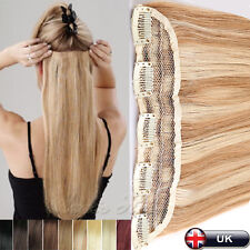 "16""18"" 20"" 22"" Clip In 100%Remy Real Human Hair Extensions One Piece 5Clips N711"