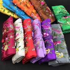 Wholesale Chinese Handmade Silk Brocade Travel Bag Jewelry Roll Pouch Purse Gift