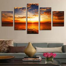 Framed Home Decor Canvas Print Painting Wall Art Modern Sunset Scenery