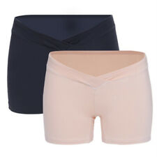 Womens Low Rise Under the Bump Belly Support Modal Maternity Boyshorts 2pcs Set