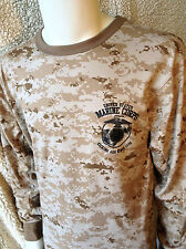 US Marine Corps Kicking Ass Desert Digital Camo LONG SLEEVE T-Shirt MARPAT USMC