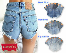 Womens Levis Vintage Denim High Waisted Shorts Jeans Hotpants 4 6 8 10 12 14 16