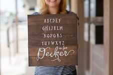 Personalized Baby Gift | Alphabet Sign | Baby Gift | Nursery Decor | Personalize