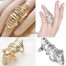 Women Fashion Jewelry Full Finger Joint Knuckle Hollow Out Ring