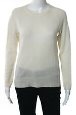 Joie Beige Cashmere Long Sleeve Crewneck Ribbed Trim Sweater Size XSmall