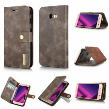 Luxury Removable Wallet Magnetic Flip Card Leather Phone Case Cover For Samsung