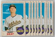 2017 Topps Heritage Sonny Gray Lot (10) #359 Athletics NM-MT