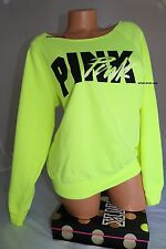 VICTORIAS SECRET PINK CREW SLOUCHY PULLOVER .SIZE SMALL MEDIUM  LARGE