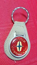 Vintage LINCOLN Keychain Leather Suede Gray