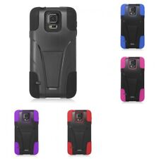 Hybrid Hard Soft Dual Layer Case Slim Armor Cover With KickStand For LG Phones