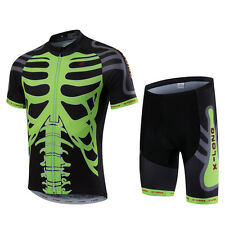 skeleton Summer Breathable Cycling Clothing MTB Bike Shirt Cycling Jersey Sets