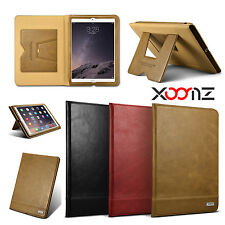 XOOMZ Genuine Leather Stand Case Protective Cover For Apple iPad air 2 (iPad 6)