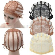 Hot Wig Cap Making Wigs Straps Breathable Mesh Weaving Adjustable Cap 3 Styles