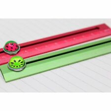 Aluminum Lovely 15cm Rule Steel Watermelon Golden Color Ruler Cute Silver