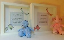 New Baby Boy Girl 1st Birthday Christening Handmade Frame Personalised Keepsake
