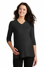 Port Authority  Ladies Silk Touch Maternity 3/4-Sleeve V-Neck Shirt. L561M