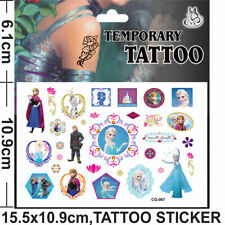 Kids Temporary Tattoos Stickers Frozen Body Art Removable Waterproof Party Bag D