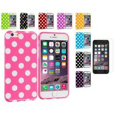 For iPhone 6 (4.7) TPU Polka Dot Case Cover+Clear Screen Protector Film