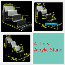 4-Tiers Step Clear Acrylic Retail Fashion Shop Display Stand Handbag Purse