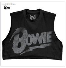 David Bowie Crop Top Rock T-Shirt / Relic Retro Rock Tee,Half Shirt,Summer 2017