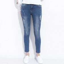 Fashion Collection Zipper Fly Cotton Fabric Pencil Denim Jeans For Women JD0144