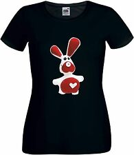 CUTE VALENTINES DAY RABBIT LOVE HEART ST VALENTINE'S DAY T SHIRT FOR HER FOR HIM