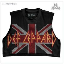 Def Leppard Crop Top Rock T-Shirt / Relic Retro Rock Tee,Half Shirt,Summer 2017