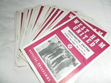 WEST HAM HOME PROGRAMMES 1961 - 63 CHOOSE FROM LIST