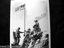 CHARLES W. LINDBERG 1st FLAG RAISING 1st GENERATION HAND SIGNED ACTUAL PH. 150-
